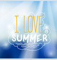 love summer sign vector image
