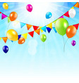 Colored Balloons Background vector image vector image