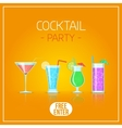 Cocktail glasses vector image vector image