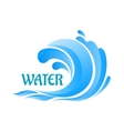 Sea wave symbol with water splashes vector image vector image