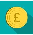 Money pound icon flat style vector image