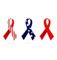 Usa flag ribbon Vector Image