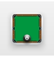 Square icon of billiard sport vector image