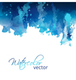 Abstract watercolor header background vector image