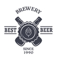 Beer Vintage emblem and place for text vector image