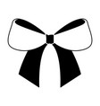 cute bow ribbon tied decoration ornament vector image
