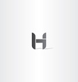 letter h black logotype icon element vector image
