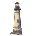 lighthouse isolated on white background vector image