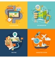 Navigation icons flat composition vector image