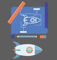 prototyping flat line design concept vector image