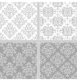 Seamless abstract damask pattern vector image