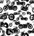 seamless retro motorbike background vector image