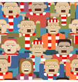 Sports crowd seamless tile vector image
