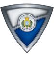steel shield with flag san marino vector image