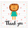 thank you inspirational quote hand drawn vector image