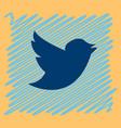 tweet bird logotwitter icon buttonflat social vector image