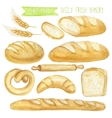 Watercolor Bread set Hand drawn vector image