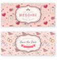 Wedding banner template vector image