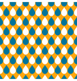 White Blue Orange Water Drops Background vector image