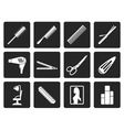 Black hairdressing coiffure and make-up icons vector image vector image