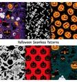 Different halloween pattern set vector image vector image