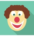 Clown icon flat style vector image