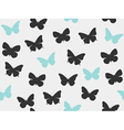 Butterfly seamless pattern set vector image vector image