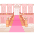 Luxury staircase in palace vector image vector image