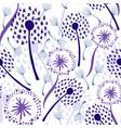 dandelions on white vector image