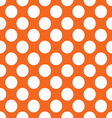 Orange polka dot seamless pattern vector image
