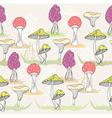 seamless colorful mushroom pattern vector image vector image
