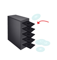 CD or DVD Duplicator on Isolated White vector image