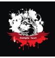 head of a dog Siberian Husky vector image