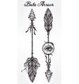Ethnic boho decorative arrows set in tattoo style vector image