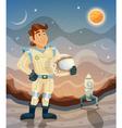 Astronaut cartoon space theme vector image