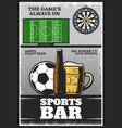 colorful vintage sport bar poster vector image