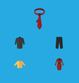 Flat icon dress set of banyan clothes cravat and vector image