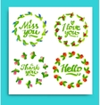 Greeting cards for different occasions everyday vector image