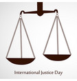 international justice day 17th july vector image