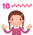 Learn number and counting number ten vector image
