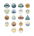 Mountain and Outdoor Adventure Vintage Emblems vector image