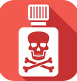 Poison Bottle Icon vector image
