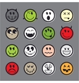 Halloween emoticon icon set collection vector image vector image
