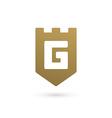 Letter G shield logo icon design template elements vector image