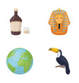 alcohol earth and other web icon in cartoon style vector image