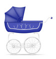 retro baby carriage stock vector image