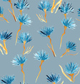 Retro background made of water colored flowers vector image vector image