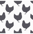 Farm bird silhouette seamless pattern Chicken vector image