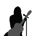 girl with guitar music vector image