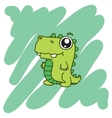 green dinosaur T-Shirt design vector image